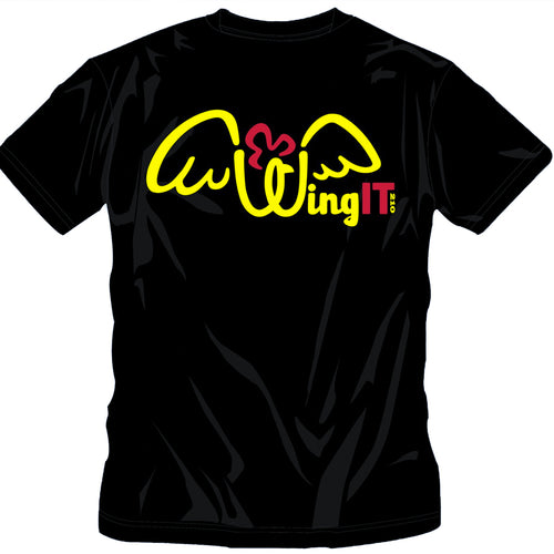 WingIt210 Black T-Shirt (Color Logo)