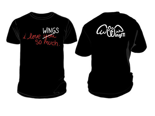 I love wings  T-Shirt (Black Color)
