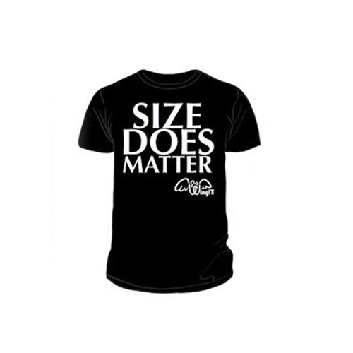 Size Does Matter Black T-Shirt