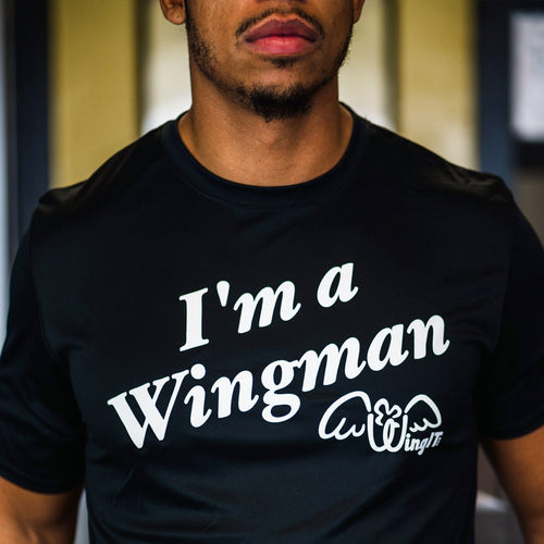 I'm A Wingman Black T-Shirt