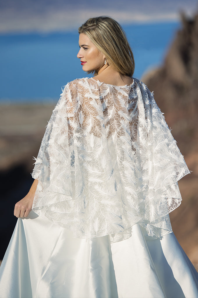 Crystal Feather Cape