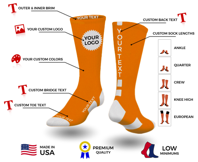 c3e3df957095 Raise Awareness For Your Cause With Custom Awareness Socks. On Sale ...