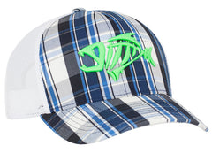 109C Plaid Trucker Mesh Hat Snapback