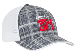 111C Crosshatch Trucker Hat Snapback