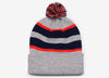 641K Loose-Fit Pom-Pom Knit Hat - SocksRock.com