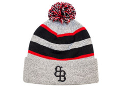 641K Loose-Fit Pom-Pom Knit Hat