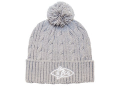 643K Cable Knit Pom-Pom Beanie Hat
