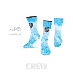 Azure - Crew - Full Custom Printed Sock