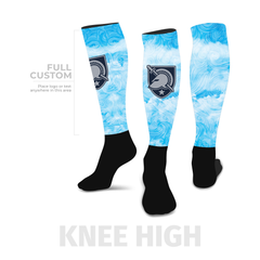 Azure - Knee-High - Half Custom Printed Sock