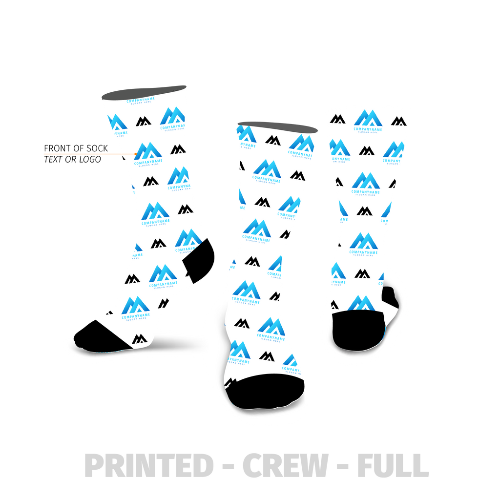 Business Multi Logo Custom Printed Sock