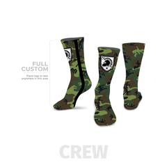 Camo - Crew - Full Custom Printed Sock