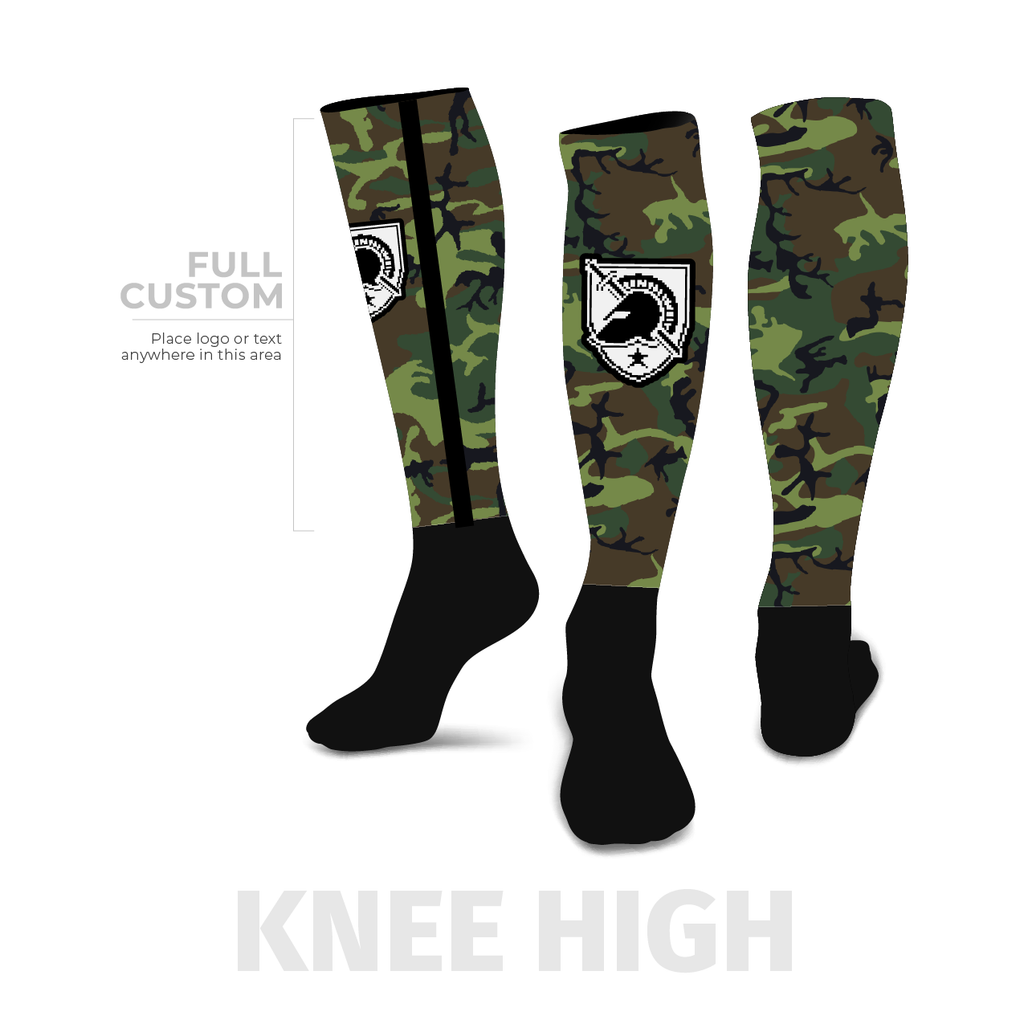 Camo - Knee-High - Half Custom Printed Sock - SocksRock.com