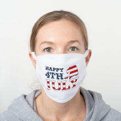 Happy 4th of July Polyester Face Guard - SHIPS FAST!