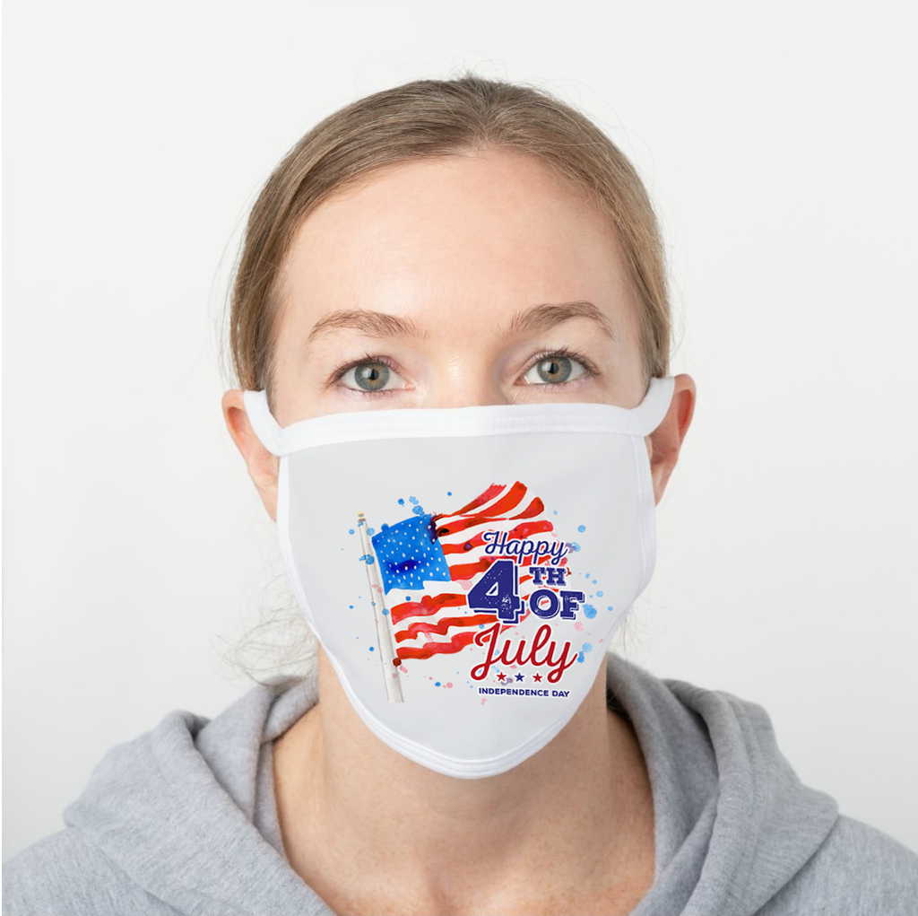 Independence Day Polyester Face Guard - SHIPS FAST!