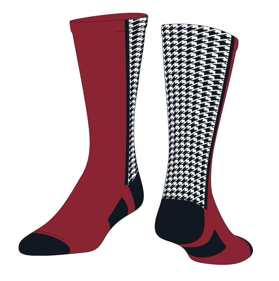 Houndstooth Custom with Logo (LHDTH) - SocksRock.com