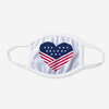 U.S.A. Flag Heart Polyester Face Guard - SHIPS FAST!