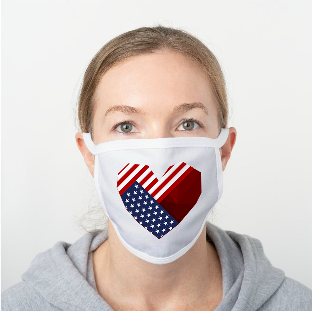 Love U.S.A. Polyester Face Guard - SHIPS FAST!