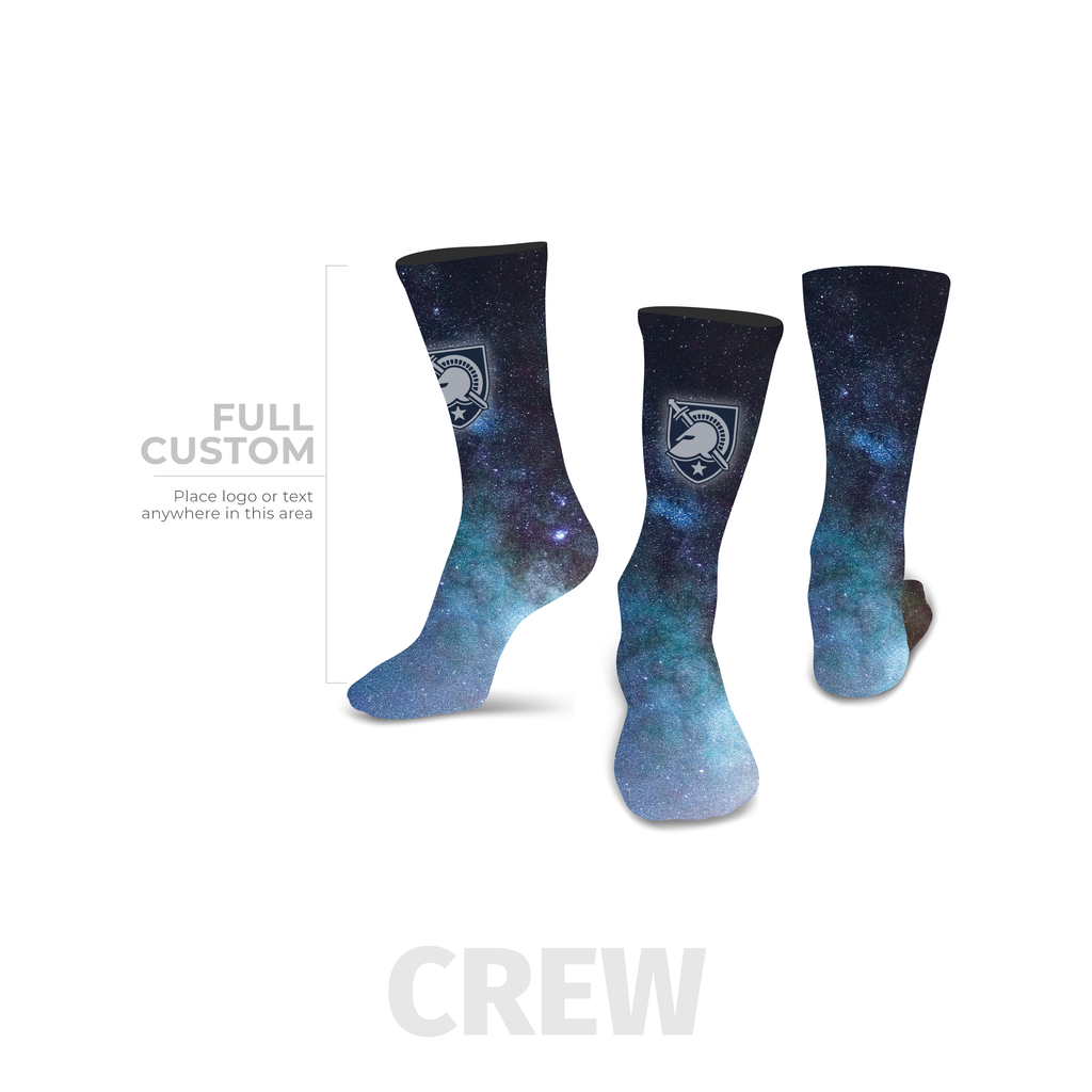 Galaxy - Crew - Full Custom Printed Sock - SocksRock.com