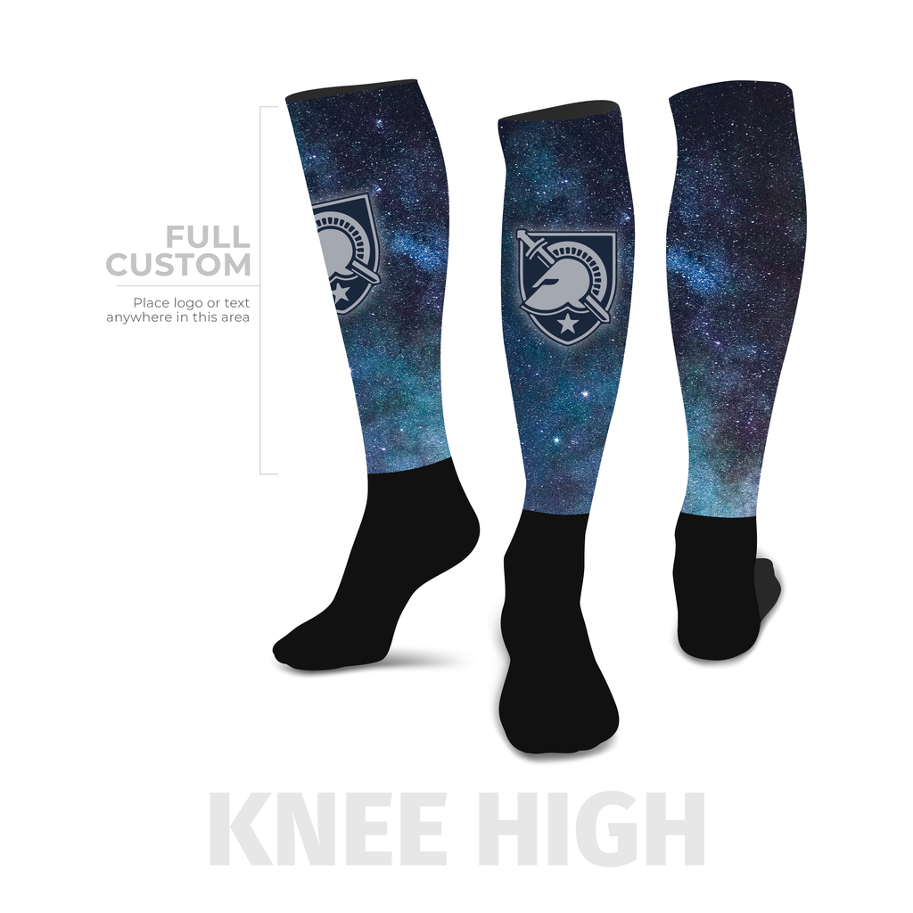 Galaxy - Knee-High - Half Custom Printed Sock - SocksRock.com