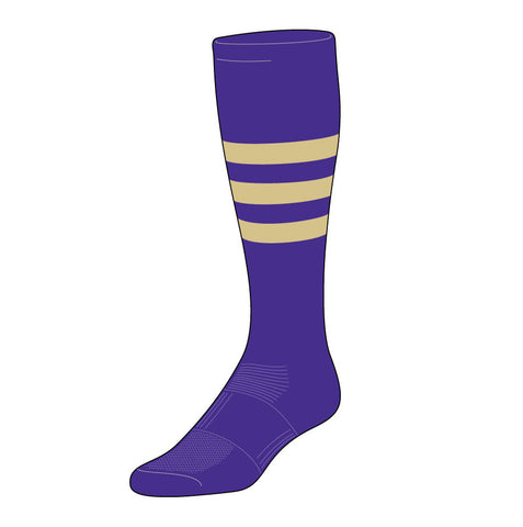 Triple-Stripe Baseball Sock (BPS-B)