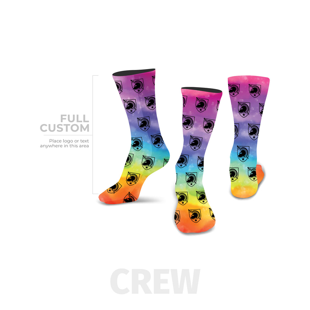 Rainbow Printed Logo Custom Sock