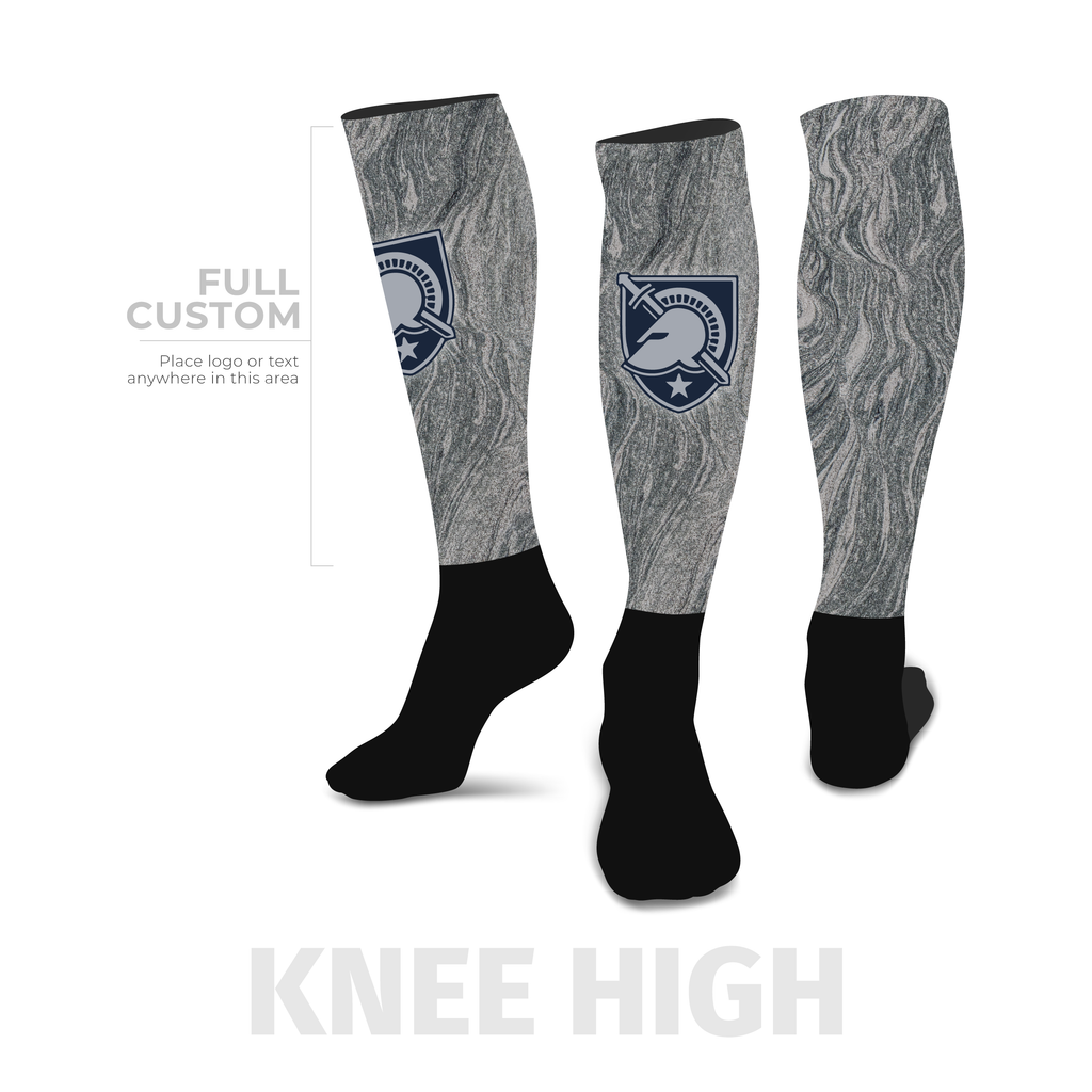 Slate - Knee-High - Half Custom Printed Sock - SocksRock.com