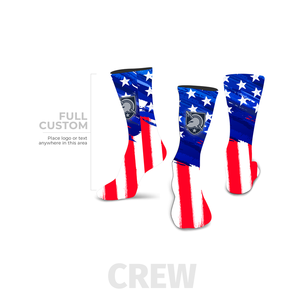 Stars and Stripes - Crew - Full Custom Printed Sock - SocksRock.com