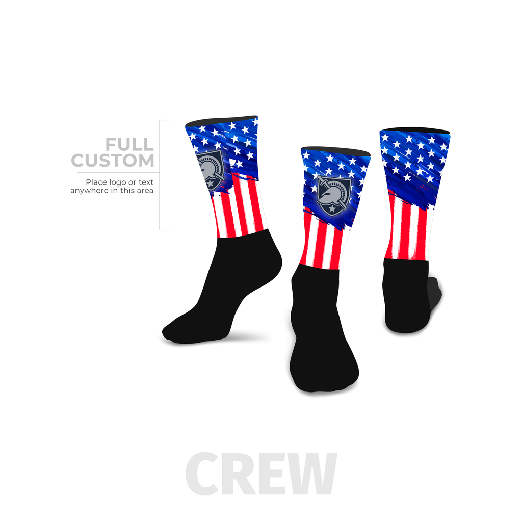 Stars and Stripes - Crew - Half Custom Printed Sock - SocksRock.com