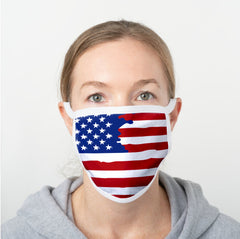 U.S.A. Flag Polyester Face Guard - SHIPS FAST!