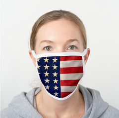 Stars & Stripes Polyester Face Guard - SHIPS FAST!