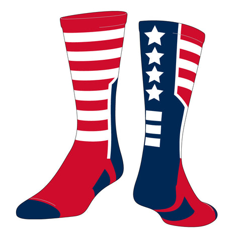 USA Flag Custom Sock with Logo (LUSA1)