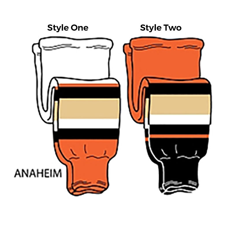 Anaheim - Pro Weight Knit Ice Hockey Socks - SocksRock.com