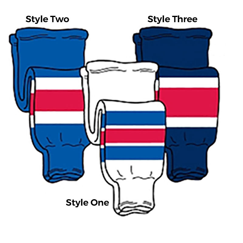 Rangers - Pro Weight Knit Ice Hockey Socks - SocksRock.com