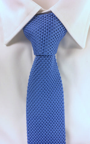 Air Force Blue Knitted Tie