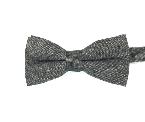 Black Chambray Bowtie