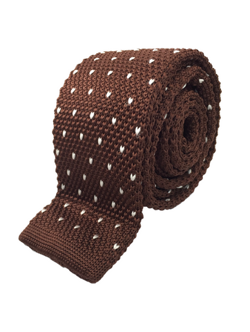 Brown with V-Pattern Knit