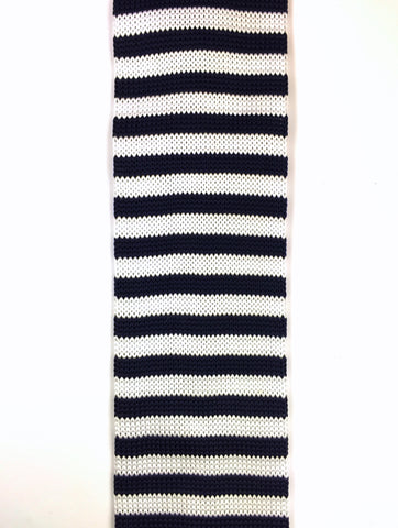 Navy and White Sailor Stripe Knit
