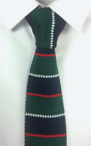 Green and Navy stacked Knit