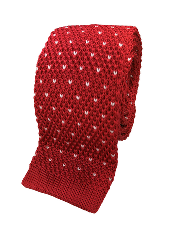 Red V-Patterned Knit