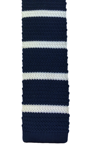 Navy with White Stripe Knit #2