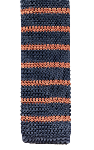 Navy with Brown Stripe Knit