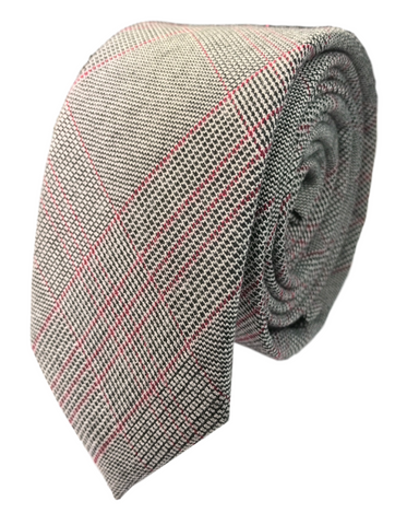 Red and Grey Glen Plaid