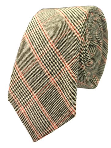 Charcoal, Red, and Grey Glen Plaid