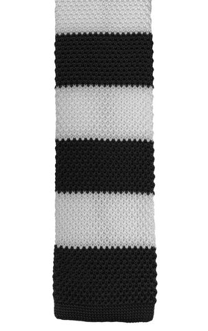 Black and White Stacked Knit