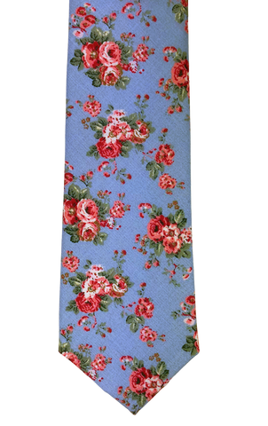 Rose on Robin Blue Floral