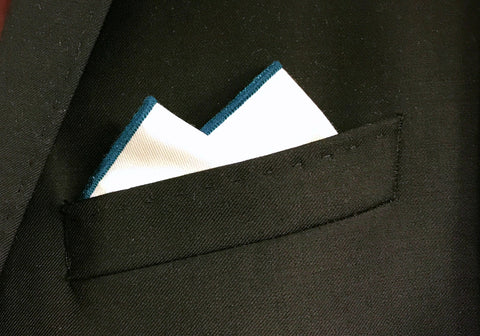 Forest Green Border Pocket Square