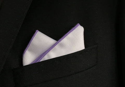 Purple Border Pocket Square