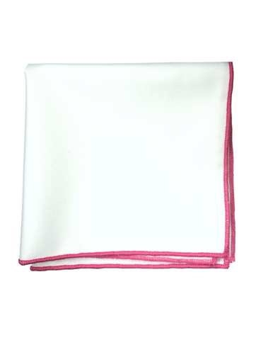 Dark Pink Border Pocket Square