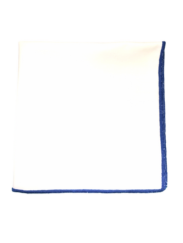 Blue Border Pocket Square
