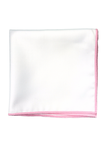 Pink Border Pocket Square
